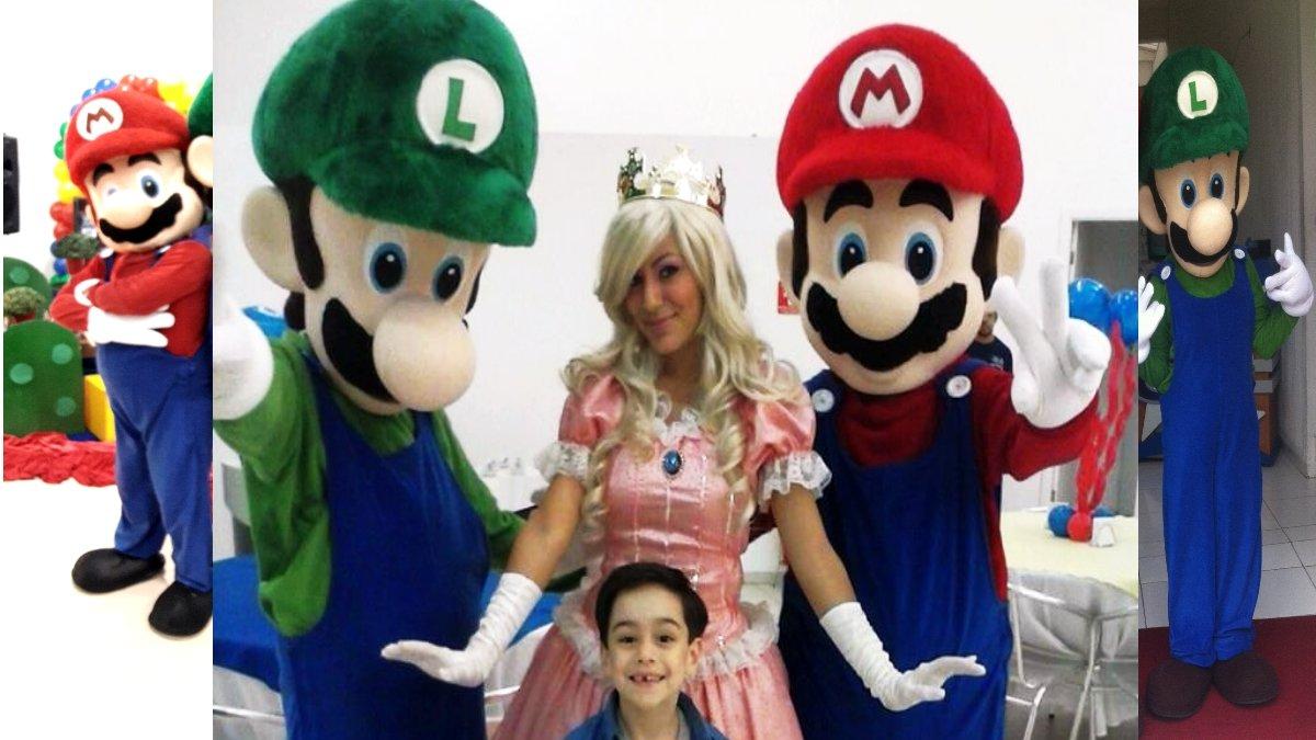 Personagem para festa Infantil - Super Mario Bros Saiba mais sobre osSuper Mario Bros